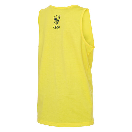 Cricket Australia 2019/20 Kids World Series Supporter Singlet, Yellow, rebel_hi-res