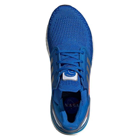 adidas Ultraboost 20 Space Race Mens Running Shoes, Blue, rebel_hi-res