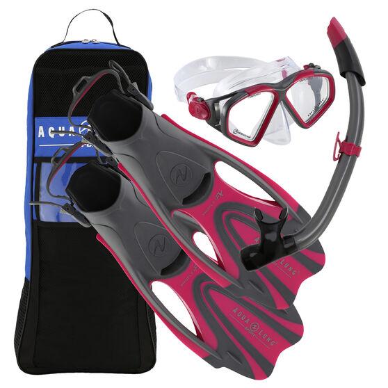 Aqua Lung Sport Adult Hawkeye Snorkel Set Pink L / XL, Pink, rebel_hi-res