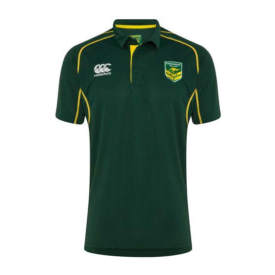 Kangaroos Pro VapoDri 2019 Mens Polo, Green, rebel_hi-res