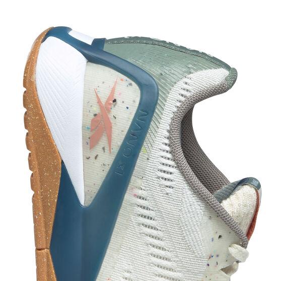 Reebok X1 Grow Womens Training Shoes, White/Green, rebel_hi-res