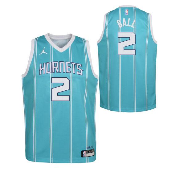 Jordan Charlotte Hornets LaMelo Ball 2020/21 Kids Icon Jersey, Teal, rebel_hi-res