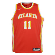 Nike Atlanta Hawks Trae Young 2020/21 Kids Icon Jersey, Red, rebel_hi-res