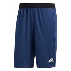 adidas Mens 4KRFT Ultimate 9in Shorts, Blue, rebel_hi-res