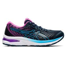 Asics GEL Cumulus 22 Kids Running Shoes, Navy/Purple, rebel_hi-res