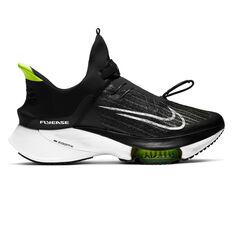 Nike Air Zoom Tempo Next% FlyEase Mens Running Shoes Black/White US 7, Black/White, rebel_hi-res