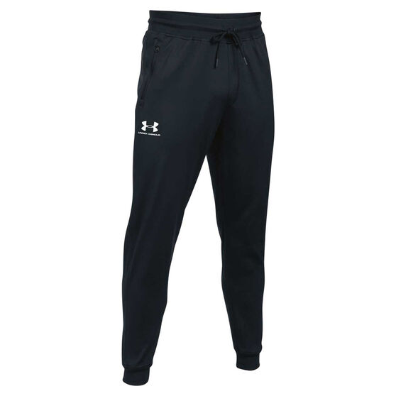 Under Armour Mens Sportstyle Track Pants, Black, rebel_hi-res