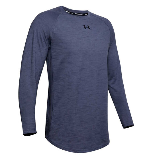 Under Armour Mens Charged Cotton Top Blue XXL, Blue, rebel_hi-res
