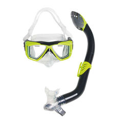 US Divers Sea Lion Combo Junior Snorkel Set Black / Yellow Junior, , rebel_hi-res