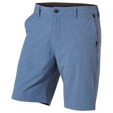 Quiksilver Mens Union Heather Amphibian Shorts Blue 30, Blue, rebel_hi-res