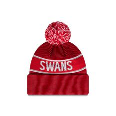 Sydney Swans New Era Supporter Beanie Red/White OSFA, , rebel_hi-res