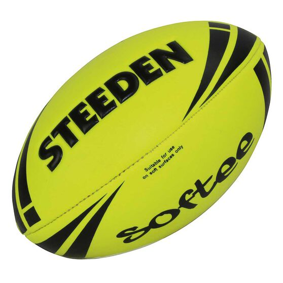 Steeden NRL Softee Rugby League Ball Yellow 11in, , rebel_hi-res