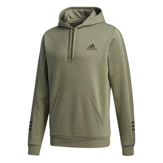 adidas Mens Essentials Comfort Hoodie, Green, rebel_hi-res