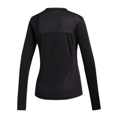 adidas Womens Own the Run Top Black XS, Black, rebel_hi-res