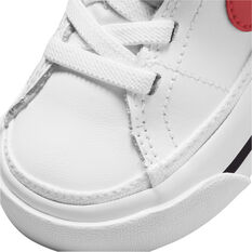 Nike Court Legacy Toddlers Shoes, White/Red, rebel_hi-res