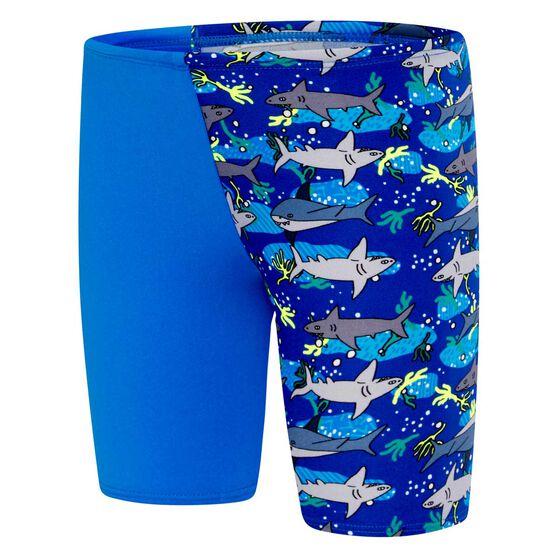Speedo Toddler Boys Shark Jammer, Blue / Print, rebel_hi-res