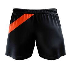 GWS Giants 2020 Mens Training Shorts Grey S, Grey, rebel_hi-res