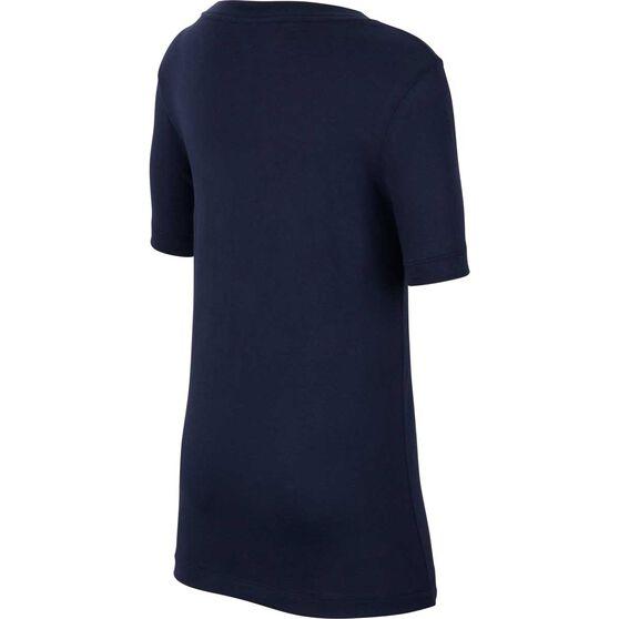 Nike Sportswear Boys Block Tee, Navy / Blue, rebel_hi-res
