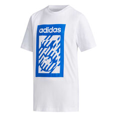 adidas Boys Box Tee White 8, White, rebel_hi-res