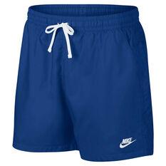 b367ca9d18b1b Nike Mens Sportswear Woven Flow Shorts Navy S, Navy, rebel_hi-res