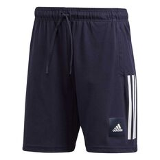 adidas Mens Must Haves Badge of Sport Shorts Blue S, Blue, rebel_hi-res