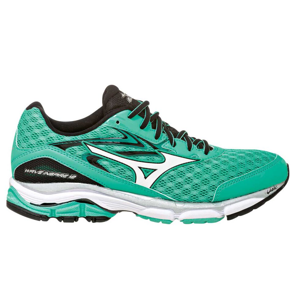 huge discount fd8a8 53479 Mizuno Wave Inspire 12 Womens Running Shoes Green   White US 6.5, Green    White