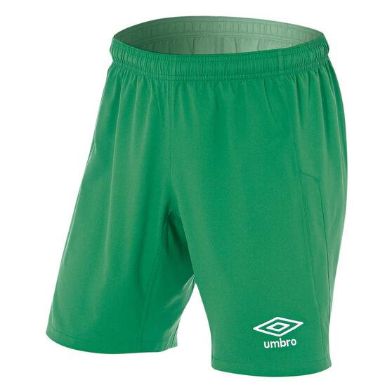 Umbro Mens League Knit Shorts, Green, rebel_hi-res
