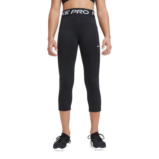 Nike Pro Girls Capri Tights, Black, rebel_hi-res