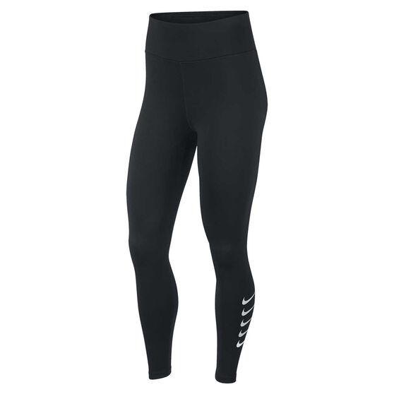 Nike Womens Swoosh Run 7/8 Tights, Black, rebel_hi-res