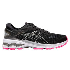Asics GEL Kayano 26 Liteshow 2.0 Womens Running Shoes Black US 6, Black, rebel_hi-res
