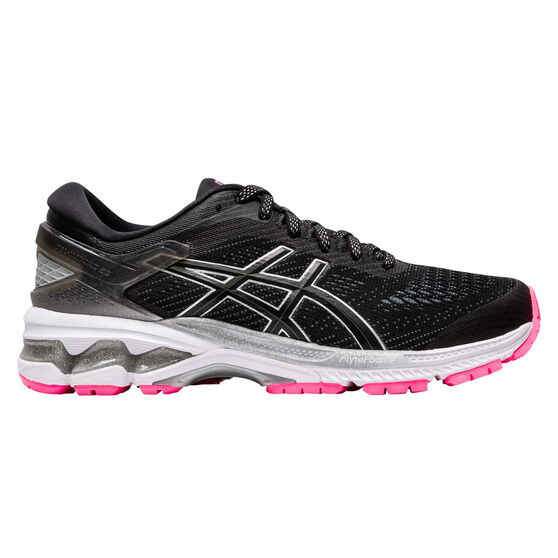 Asics GEL Kayano 26 Liteshow 2.0 Womens Running Shoes Black US 8, Black, rebel_hi-res