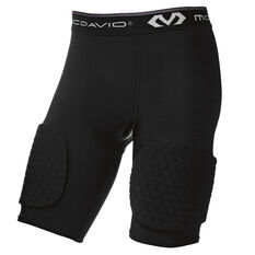McDavid Hex 3 Pad Basketball Shorts Black S, Black, rebel_hi-res