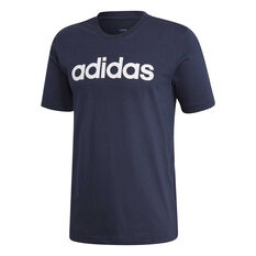 adidas Mens Essentials Linear Tee Navy / White S, Navy / White, rebel_hi-res