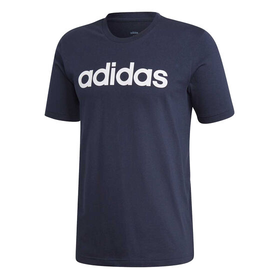 adidas Mens Essentials Linear Tee, Navy / White, rebel_hi-res