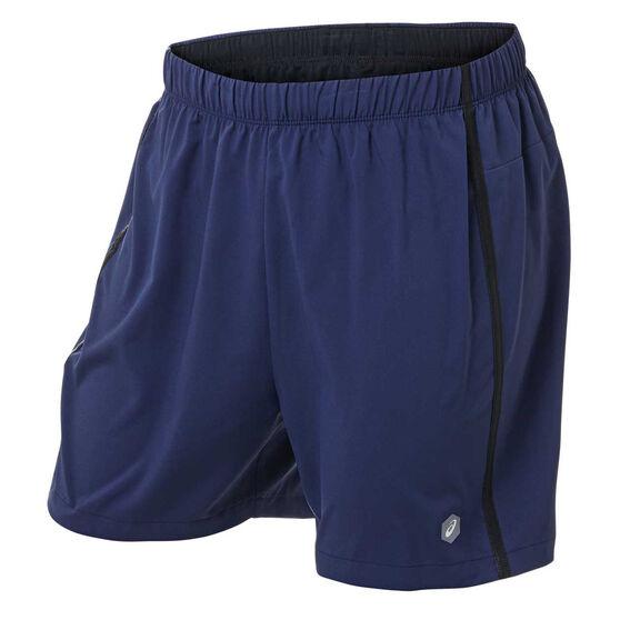 Asics Mens 5in Shorts Navy S, Navy, rebel_hi-res