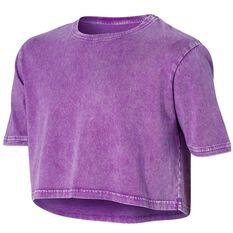 Ell & Voo Girls Rocky Cropped Tee Purple 6, Purple, rebel_hi-res