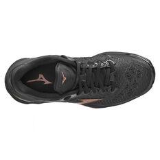 Mizuno Wave Stealth V Womens Netball Shoes, Black, rebel_hi-res