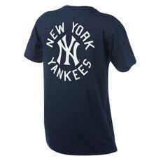 New York Yankees Mens Drimer Tee Navy S, Navy, rebel_hi-res