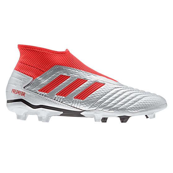adidas Predator 19.3 Laceless Football Boots, Silver / Black, rebel_hi-res