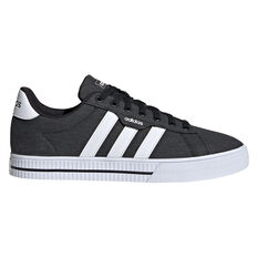 adidas Daily 3.0 Mens Casual Shoes Black/White US 7, Black/White, rebel_hi-res