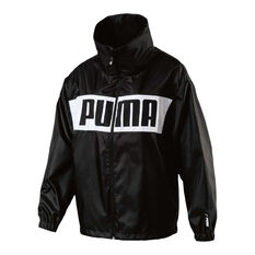 Puma Womens Urban Sports Windbreaker Black XS, Black, rebel_hi-res