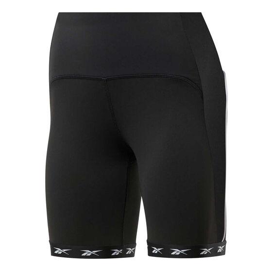Reebok Womens Studio Bike Shorts, Black, rebel_hi-res