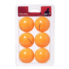 Dragonfly Orange Table Tennis Balls 6 Pack Orange, , rebel_hi-res