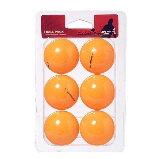 Dragonfly Orange Table Tennis Balls 6 Pack Orange, , rebel_hi-res
