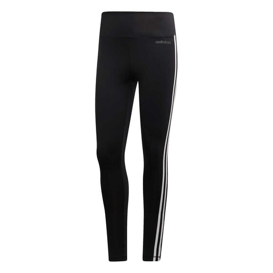 adidas Womens Designed to Move Climalite 3 Stripes 7/8 Tight, Black, rebel_hi-res