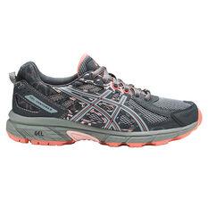 Asics Gel Venture 6 Womens Trail Running Shoes Grey / Pink US 6, Grey / Pink, rebel_hi-res