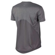 Nike Womens Miler Running Tee Grey XS, Grey, rebel_hi-res