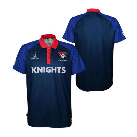 Newcastle Knights 2021 Mens Polo, Navy, rebel_hi-res