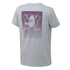 Majestic Mens Anaheim Ducks Lance Tee Grey S, Grey, rebel_hi-res
