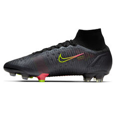 Nike Mercurial Superfly 8 Elite Football Boots Black US Mens 5 / Womens 6.5, Black, rebel_hi-res